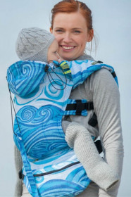 LennyLamb Baby Size, Full Wrap Conversion - BLUE WAVES (Second Generation)
