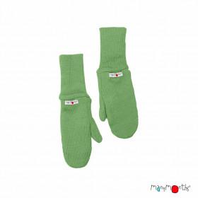 Mănuși dublate din lână merinos ManyMonths - Jade Green