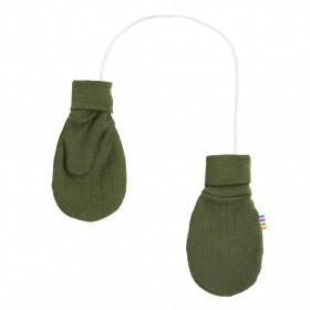 Manusi Joha din lana merinos - Bottle Green