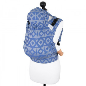 Marsupiu Ergonomic,Fidella Fusion 2.0 Toddler Wrap Conversion, Night Owl -Smooth Blue