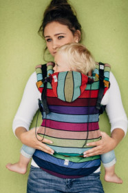 Marsupiu Ergonomic, Lenny Lamb Toddler, CAROUSEL OF COLORS Full Wrap Conversion