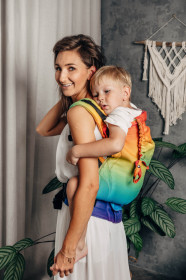 Marsupiu ergonomic LennyPreschool, Rainbow Baby