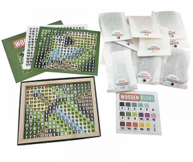 Mozaic-Pixel Pirates 400 piese,Joc Din Lemn Cubika