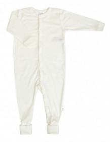 Overall/Pijama lână merinos cu/fara sosete Joha - Basic White