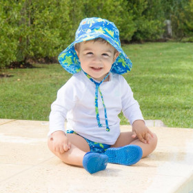 Palarie ajustabila Green Sprouts by iPlay SPF 50+ - Royal Blue Turtle Journey