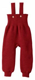 Pantaloni cu bretele lână merinos Disana - Bordeaux