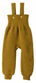 Pantaloni cu bretele lână merinos Disana - Gold