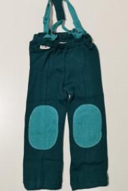 Pantaloni ManyMonths Hazel din lână merinos - Ocean Wave