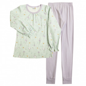 Pijama Joha bumbac organic - Flamingo