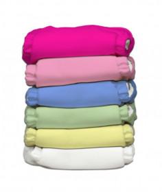 Set 6 scutece textile Charlie Banana - inserturi noi cu fleece , Girl
