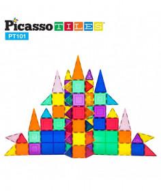 Set PicassoTiles - 101 piese magnetice de construcție colorate