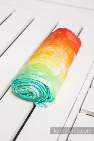 Swaddle Wrap Swallows Rainbow Light , Lennylamb