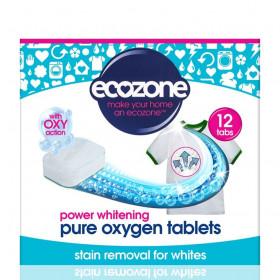 Tablete pe baza de oxigen activ pentru albirea rufelor si indepartarea petelor, rufe albe, Ecozone, 12 buc