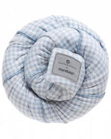 Wrap elastic Manduca, portbebe, BellyButton SoftCheck Blue
