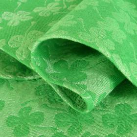 Wrap tesut, portbebe , DIDYMOS - Green Clover size 3 (3,2 m) (bumbac+canepa+matase)