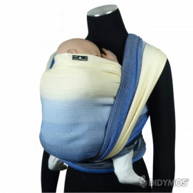 Wrap tesut, portbebe , DIDYMOS - Lisca Arctic Blue size 3 (3,2 m) (bumbac+lana organica)