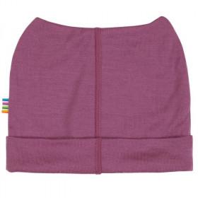 Caciula dublata Joha (beanie) lână merinos - Heavy Single Wool Berry