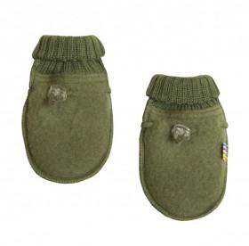 Manusi din lana merinos tip fleece, Joha - Green