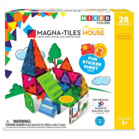 Magna-Tiles House set magnetic cu autocolante (28 piese)