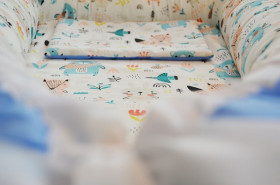 Baby Nests din bumbac Blue Bears