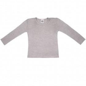 Bluza Cosilana lână merinos si mătase - Grey Melange