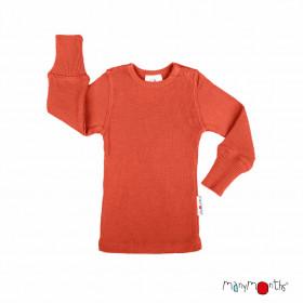 Bluză ManyMonths lână merinos - Rooibos Red