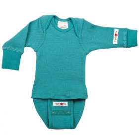 Body/Bluza (2 in 1) ManyMonths lână merinos - Royal Turquoise