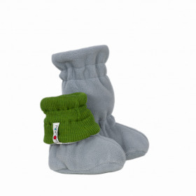 Botosei ajustabili ManyMonths Winter Booties pt babywearing - Garden Moss Green/Grey