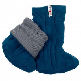 Botosei ajustabili ManyMonths Winter Booties pt babywearing - Platinum Grey/Dark Blue