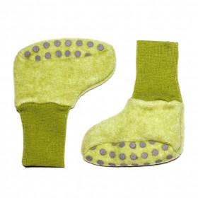 Botosei Cosilana din lână merinos fleece - Green