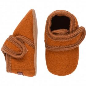 Botosei din lână fiartă - Orange Rust, Melton