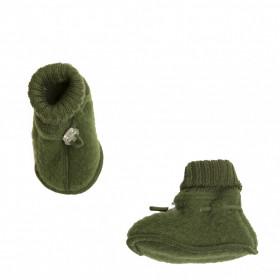 Botosei din lână merinos fleece Joha - Bottle Green