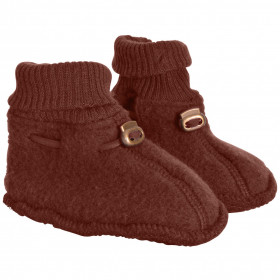 Botosei din lână merinos fleece Mikk-line - Madder Brown