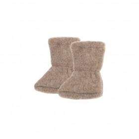 Botosei din lână merinos fleece Pure Pure - Walnut