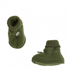 Botosei din lână merinos Joha - Bottle Green