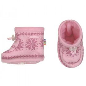Botosei Joha din lână merinos - Snowflake Pink