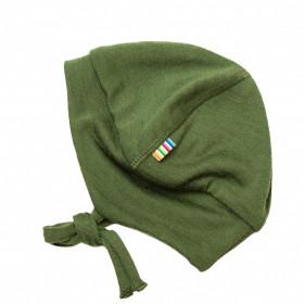 Căciulă dublată din lână merinos Joha - Single Wool Green