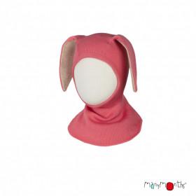Cagula ManyMonths Bunny Ears lână merinos - Peach Bud