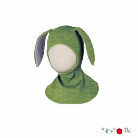 Cagulă ManyMonths lână merinos - Bunny Jade Green