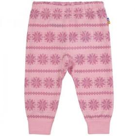 Colanti Joha din lână merinos -Snowflake Pink, marimea 110