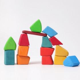 Cuburi Waldorf cu forme neregulate , Grimm's Spiel und Holz Design
