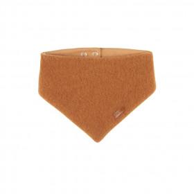 Fular triunghi din lână merinos fleece Pure Pure - Caramel