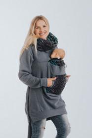 Hanorac pentru babywearing Lenny lamb -JEANS/TRINITY COSMOS(marimea L)