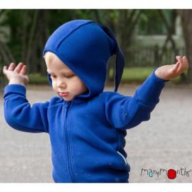 Hoodie ManyMonths lână merinos - Jewel Blue