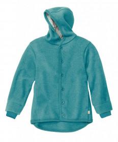 Jacheta cu nasturi din lână fiartă Disana - Blue Lagoon