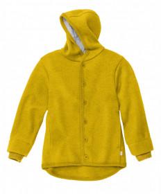 Jacheta cu nasturi din lână fiartă Disana - Curry