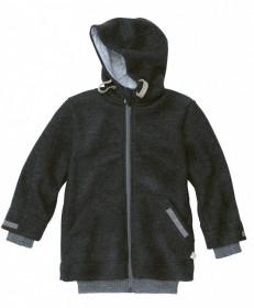 Jacheta Disana copii lână organica boiled wool (lana fiarta) - Anthracite