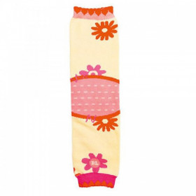 Jambiere copii Babylegs Flowers cu genunchiere - bumbac organic