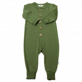 Jumpsuit/Overall din lână merinos cu/fără șosete Joha - Single Wool Green