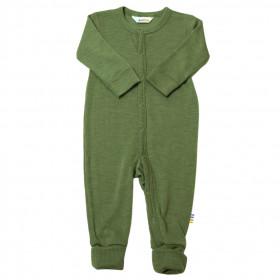 Jumpsuit/Overall din lână merinos și mătase cu/fără șosete Joha - Green